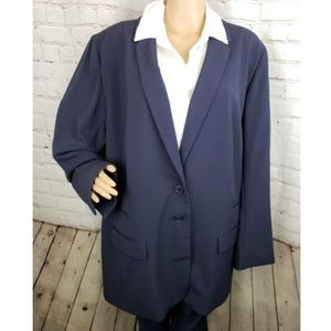 NWT Lane Bryant Tailored Stretch Navy Blazer